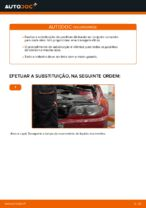 Como substituir pastilhas de travão traseiras do travão de disco de BMW E46 Cabrio