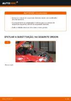 Como substituir a coluna de suspensão dianteira no BMW E46 Cabrio