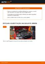 Como substituir as pastilhas de travão dianteiras do travão de disco de BMW E46 Cabrio