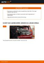 Kuidas vahetada tagumisi piduriklotse või pidurikettaid BMW E46 Cabrio