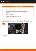 Kuidas vahetada salongiõhu diltrit autol BMW E46