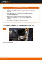 BMW E46 kabinszűrő csere