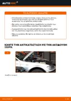 Πώς αντικαθιστούμε μπροστινή βάση γονάτου ανάρτησης σε BMW E46 Touring