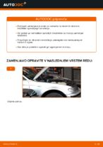 Kako zamenjati sprednji nosilec opornika vzmetenja na BMW E46 Touring
