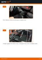Como substituir as escovas do limpa para-brisa dianteiros em BMW E46 Touring
