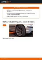 Como substituir os casquilhos da barra estabilizadora dianteira no BMW E46 Touring