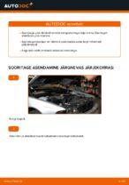 Kuidas vahetada tagumisi piduriklotse või pidurikettaid BMW E39