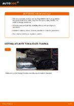 PDF keitimo instrukcija: Stabdžių diskas BMW gale ir priekyje