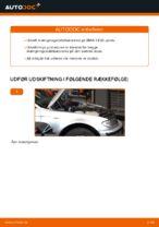 Hvordan installeres den foreste krængningsstabilisator på BMW E46 Touring