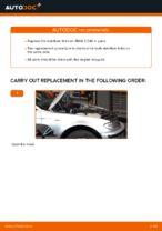 Changing Anti Roll Bar Links BMW 3 SERIES: workshop manual