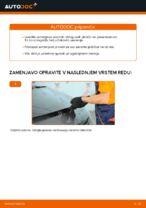 Kako zamenjati sprednje zavorne ploščice za kolutne zavore na Renault Scenic 2