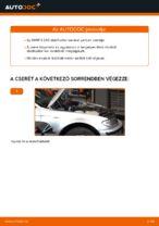BMW E46 Touring első stabilizátor kar csere
