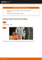 PDF keitimo instrukcija: Vairo trauklės (valdymo svirtis, išilginis balansyras, diago MERCEDES-BENZ M Klasė (W163) gale ir priekyje