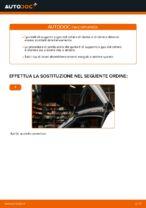 Come sostituire i puntelli di supporto a gas del cofano posteriore su Audi A3 8P1