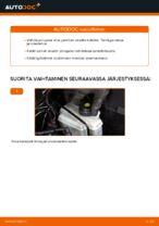 Kuinka vaihtaa ja säätää Jarrupalasarja AUDI A3: pdf-opas