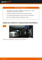 Kako zamenjati zavorne kolute na zadnjem delu pri BMW E39 bensin
