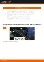 Kuinka vaihtaa etu pyyhkijänsulat BMW E39 bensa malliin