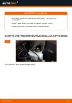AUDI A3 Jarrupalat vaihto: ohjekirja
