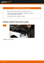 Kaip pakeisti priekinės pakabos amortizatoriaus statramstį Audi A3 8P1