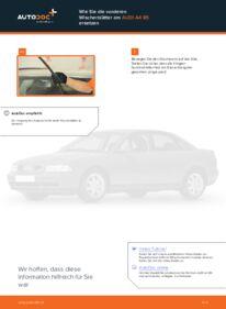 Wie der Austausch bewerkstelligt wird: Scheibenwischer beim 1.6 Audi A4 B5 Limousine