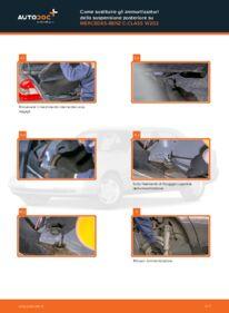 Come effettuare una sostituzione di Ammortizzatori su C 180 1.8 (202.018) Mercedes W202