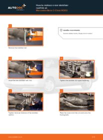 How to carry out replacement: Anti Roll Bar Links on C 180 1.8 (202.018) Mercedes W202
