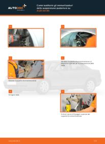 Come effettuare una sostituzione di Ammortizzatori su 1.6 Audi A4 B5 Sedan