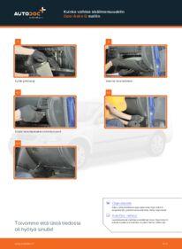 Kuinka vaihtaa Raitisilmasuodatin 1.6 16V (F08, F48) Opel Astra g f48 -autoon