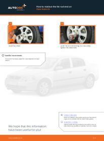 How to carry out replacement: Track Rod End on 1.6 16V (F08, F48) Opel Astra g f48