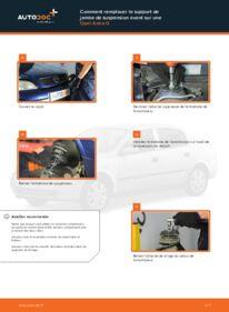 Comment effectuer un remplacement de Coupelle d'Amortisseur sur 1.6 16V (F08, F48) Opel Astra g f48