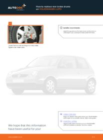 How to carry out replacement: Brake Drum on 1.2 TDI 3L VW Lupo 6x1