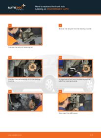 How to carry out replacement: Wheel Bearing on 1.2 TDI 3L VW Lupo 6x1
