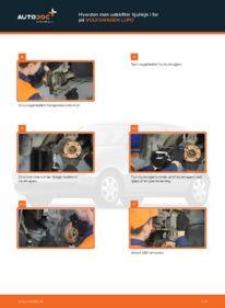Hvordan man udfører udskiftning af: Hjulleje på 1.2 TDI 3L VW Lupo 6x1