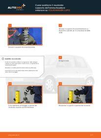 Come effettuare una sostituzione di Supporto Ammortizzatore su 1.2 TDI 3L VW Lupo 6x1