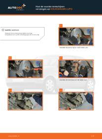 Vervanging uitvoeren: Remschijven 1.2 TDI 3L VW Lupo 6x1
