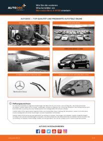 Wie der Austausch bewerkstelligt wird: Scheibenwischer beim A 140 1.4 (168.031, 168.131) Mercedes W168
