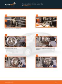 How to carry out replacement: Brake Discs on 1.4 HDi CITROËN C3 I (FC_)