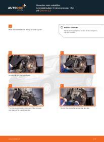 Hvordan man udfører udskiftning af: Bremseklodser på 1.4 HDi CITROËN C3 I (FC_)