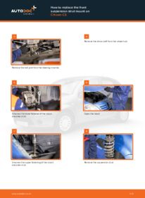 How to carry out replacement: Strut Mount on 1.4 HDi CITROËN C3 I (FC_)