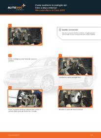 Come effettuare una sostituzione di Pastiglie Freno su E 220 CDI 2.2 (211.006) Mercedes W211