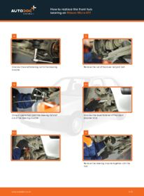 How to carry out replacement: Wheel Bearing on 1.0 i 16V Nissan Micra k11