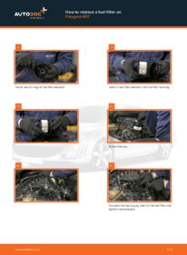 How to carry out replacement: Fuel Filter on 2.0 HDi 135 Peugeot 407 Saloon