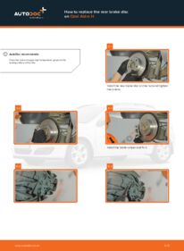 How to carry out replacement: Brake Discs on 1.7 CDTI (L48) Opel Astra h l48