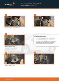 How to carry out replacement: Brake Pads on 1.7 CDTI (L48) Opel Astra h l48