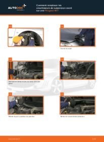 Comment effectuer un remplacement de Amortisseurs sur 2.0 HDi 135 Peugeot 407 Berline
