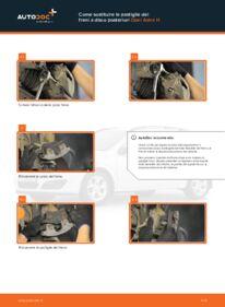 Come effettuare una sostituzione di Pastiglie Freno su 1.7 CDTI (L48) Opel Astra h l48