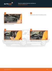 How to carry out replacement: Track Rod End on 1.9 TDI Skoda Octavia 1u