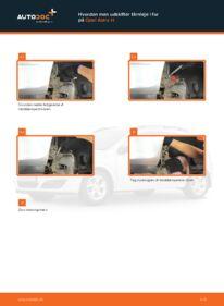 Hvordan man udfører udskiftning af: Tårnleje på 1.7 CDTI (L48) Opel Astra h l48