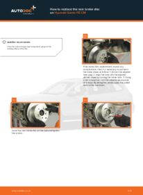 How to carry out replacement: Brake Discs on 2.2 CRDi 4x4 Hyundai Santa Fe cm