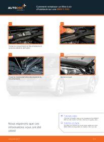 Comment effectuer un remplacement de Filtre d'Habitacle sur 530d 3.0 BMW E60
